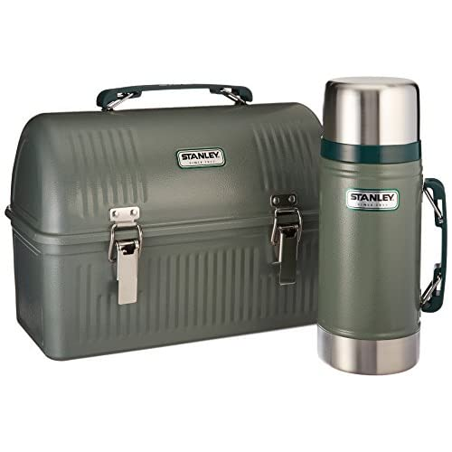 Stanley Classic Lunch Box and Classic Vacuum Food Jar Combo, Hammer Tone Green