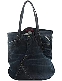 Replay Women's Handbag (Blue Black Denim And Black)
