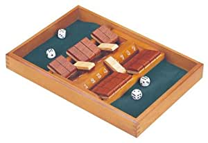 double sided wooden shut the box dice game. Black Bedroom Furniture Sets. Home Design Ideas