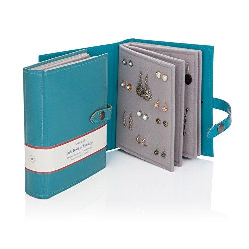 Little book of libro per orecchini colore oro - Porta orecchini a libro ...