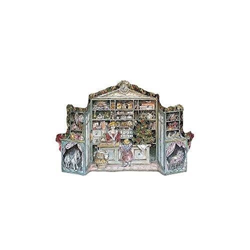 """Korsch Advent - 3-Dimensional Victorian Store - 9.5""""H X 15""""W X 2""""D"""