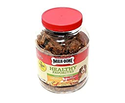 Milk Bone Healthy Favorites Soft Chewy Treats Variety (Real Chicken & Beef) 37oz