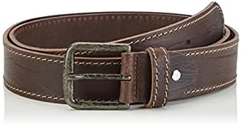 MUSTANG Saddle Stitch - Ceinture - Homme - Marron (chocolate 340) - 125 (Taille fabricant: 125)