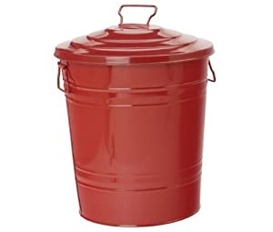 Houston International 5802E XR 16-Gallon Steel Storage Container, Red