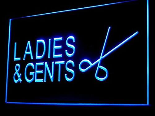 C B Signs Ladies And Gents Hair Cut Hair Salon Led Sign Neon Light Sign Display