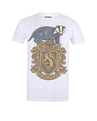 ICONIC COLLECTION - HARRY POTTER Camiseta Manga Corta Hufflepuff Badge Blanco
