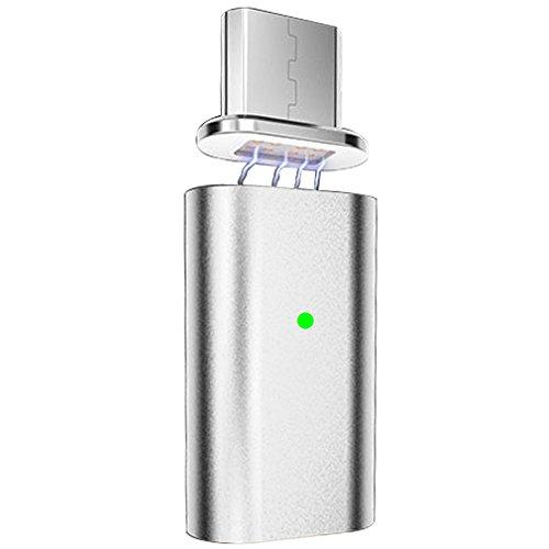 First2savvv CTX-S-ZZ-16 Micro USB Magnético Convertidor Adaptador de Puerto de Sincronización de Datos para Dispositivo Inteligente de <stro />Android</strong>® plata width=&#8221;125&#8243;> <div class=