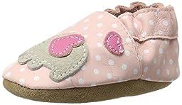 Robeez Little Peanut Crib Shoe (Infant/Toddler),Pastel Pink,0-6 Months M US