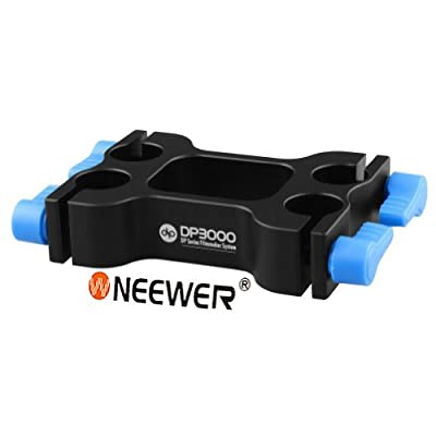 Neewer Offset Riser Rail Block Rod Clamp for 4 pieces 15mm Rod Movie Film Video Photography Making System Canon Nikon Sony Pentax Fujifilm Panasonic DSLR Camera Camcoder Rig Rail