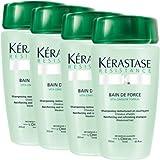 KERASTASE Resistance Bain De Force Shampoo 250ml x4