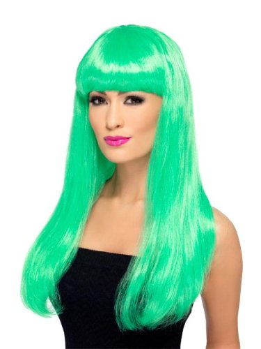 Smiffy'S Babelicious Wig, Green, One Size