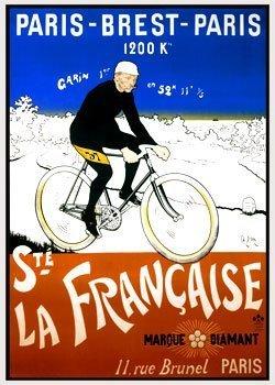Paris-Brest-Paris Giclee Vintage Bicycle Poster by BicycleGifts, LLC