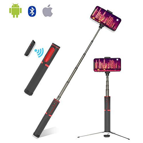 ETROBOT Bluetooth Selfie Stick Tripod, Aluminum Extendable Selfie Stick with Wireless Remote for iPhone X/8/8 Plus/7/7 Plus/Galaxy S9/S9 Plus/Note 8/S8/ Universal