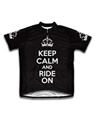 Keep Calm and Ride On Short Sleeve Cycling Jersey for Women