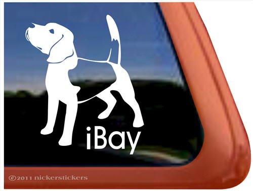 iBay Beagle Dog Vinyl Window Auto Decal Sticker