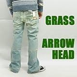 (グラス)grass 「ARROW HEAD」ルーズフレアジーンズ