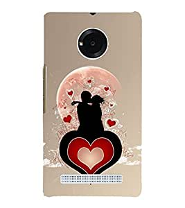 love and Kiss 3D Hard Polycarbonate Designer Back Case Cover for YU Yuphoria :: YU Yuphoria YU5010