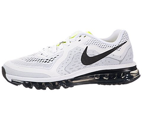 Nike Women's Air Max 2014 White/Black/Pure Platinum/Volt Running Shoe 7.5 Women US (Air Max Shoes 2013 compare prices)