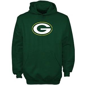 NFL Reebok Green Bay Packers Youth Green Primary Logo Hoodie Sweatshirt