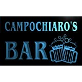 w129721-b CAMPOCHIARO Name Home Bar Pub Beer Mugs Cheers Neon Light Sign Barlicht Neonlicht Lichtwerbung