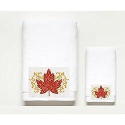 Elegant ~Autumn~ Filigree Bath Towel Set