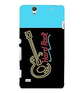 printtech LED Hard Rock Guitar Back Case Cover for Sony Xperia C4 Dual E5333 E5343 E5363::Sony Xperia C4 E5303 E5306 E5353