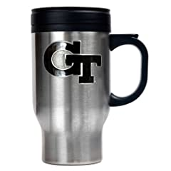 Buy NCAA Georgia Tech Yellow Jackets 16oz Stainless Steel Travel Mug by Great American Products