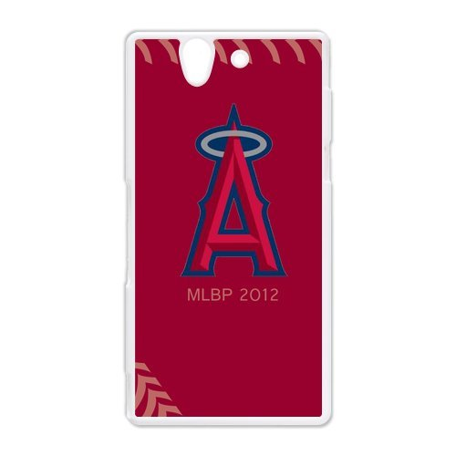 Generic Cell Phone Cases Cover For Sony Xperia Z Case L36 Fashionable Designed With Baseball Team Los Angeles Angels Background Personalized Case front-868559