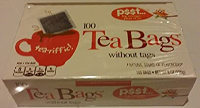 Tea-riffic Tea Bags Without Tags - 100 Count Net Wt 8 Oz