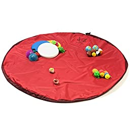 THE COOL FOX Toy Organizer - PREMIUM Storage Bag - Large Children\'s Play Mat - 60 Inch, Quick Cleanup
