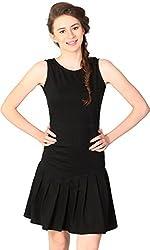 Unimod Women's Peplum Dress (Black, XL)