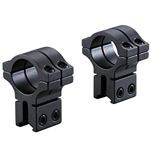 Bkl 1in. Dia X 1in. Long Double Strap Dovetail Rings-High, Black (Bkl-263h-Mb)