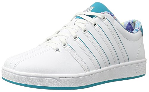 K-Swiss Women's Court Pro II SP CMF Fashion Sneaker, White/White/Tile Blue, 6 M US