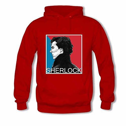 Women's Hoodie Art Sketch Sherlock Holmes Print Sweatshirt 3XL