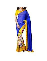 Bhavi Embellished Printed Georgette Saree - B00NBXY1JO