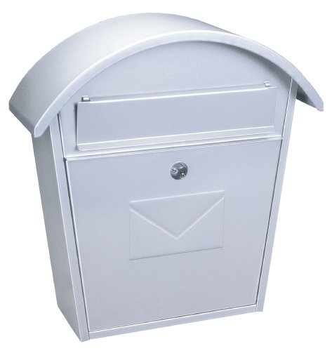 Rottner Jesolo Large Steel Front Loading Letter Box - White