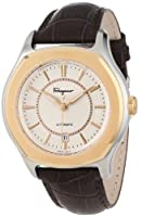 Salvatore Ferragamo Men's FQ1030013 Lungarno Stainless Steel Gold Ion-Plated Bezel Brown Leather Watch by Salvatore Ferragamo