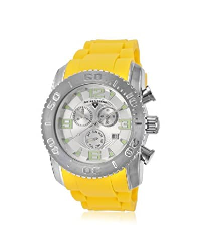 Swiss Legend Men's 10067-02S-YLS Commander Yellow/Silver Silicone Watch