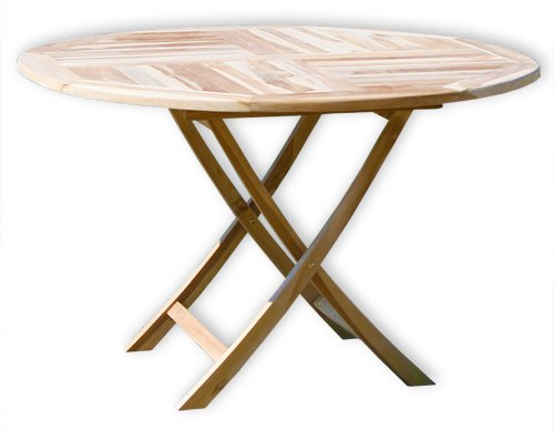 KMH®, Klapp-Tisch (Ø = 120cm) (ECHT TEAK!) (#102114) günstig bestellen
