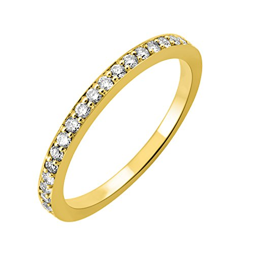 14k Yellow Gold Wedding Diamond Band Ring (1/4 Carat) (Anniversary Rings Yellow Gold compare prices)