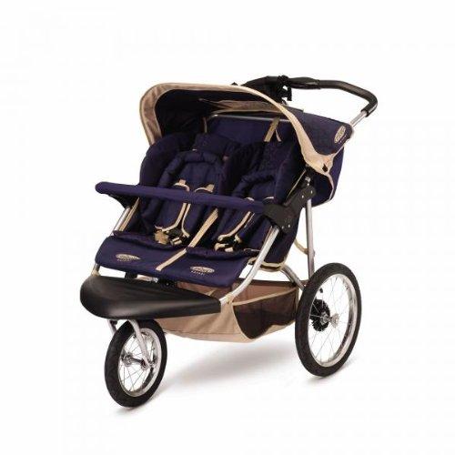 InStep Safari Swivel Double Jogging Stroller : Stroller ...