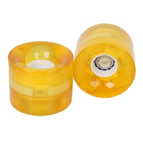 Ciamlir Set of 2 LED Light-up Skateboard Wheels