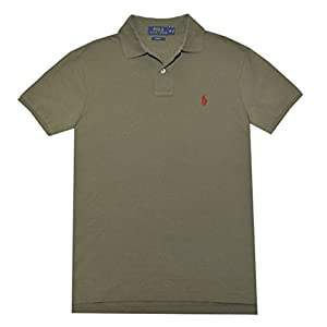 Polo Ralph Lauren Slim-Fit Mesh Polo Shirt British Olive L