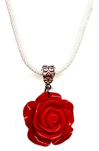 Moon Pixie rose flower pendant for mother's day