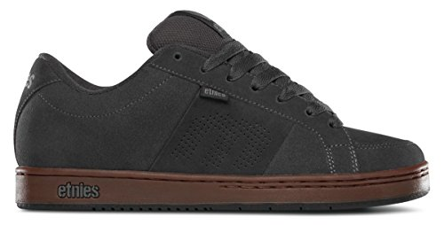 Etnies Kingpin Grey Black Gum Mens Suede Skate Trainers Shoes-7