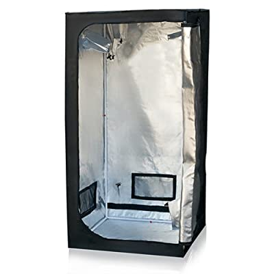 """Best ChoiceProducts Grow Tent Reflective Mylar Hydroponics Plant Growing Room New, 32"""" X 32"""" X 63"""""""