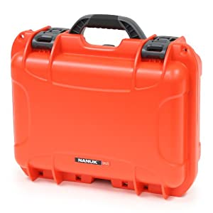Nanuk 915 Case with Cubed Foam (Orange)