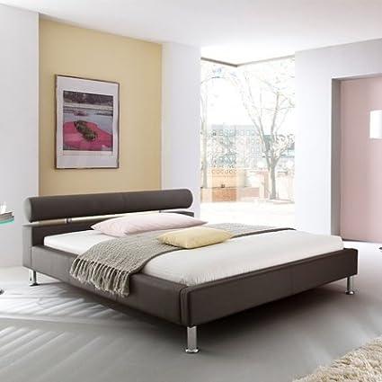 Funda de piel sintética de la tapicería de cama de Avignon, marrón, 100 x 200 cm