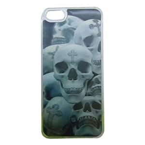 3D Effect Horrific Skull Heads Patterned Back Guard Case Cover for Apple iPhone 5