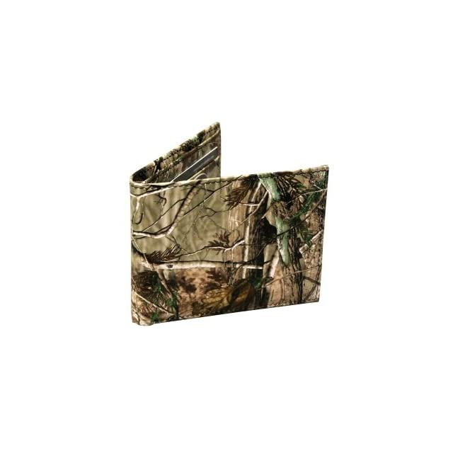 Realtree Bifold Camouflage Wallet Made From High Quality Leather